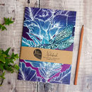 Dragonfly Lily Fuchsia A5 Recycled Plain Notebook