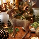 Gold Reindeer Standing Decoration