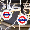 Official Tfl London Tube Stop Hanging Tree Decoration