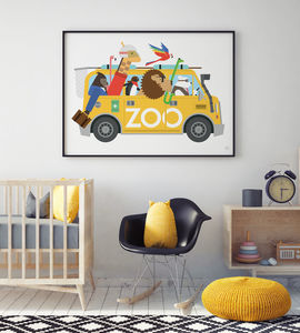 'Zoo Van Escape Print'