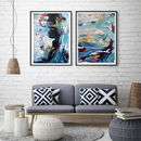 Abstract Art Set Of Two Art Prints Abstract Wall Art