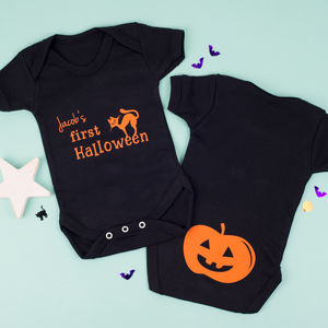 'My First Halloween' Personalised Baby Grow - babygrows