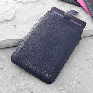 Personalised Luxury Nappa Leather iPad Case - tech accessories for him