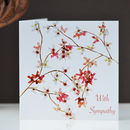 Cherry Blossom With Sympathy Card, Butterfly Card