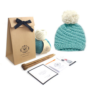 Make Your Own Luca Pom Hat Knitting Kit