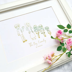 Child's Own Artwork Personalised Foil Print