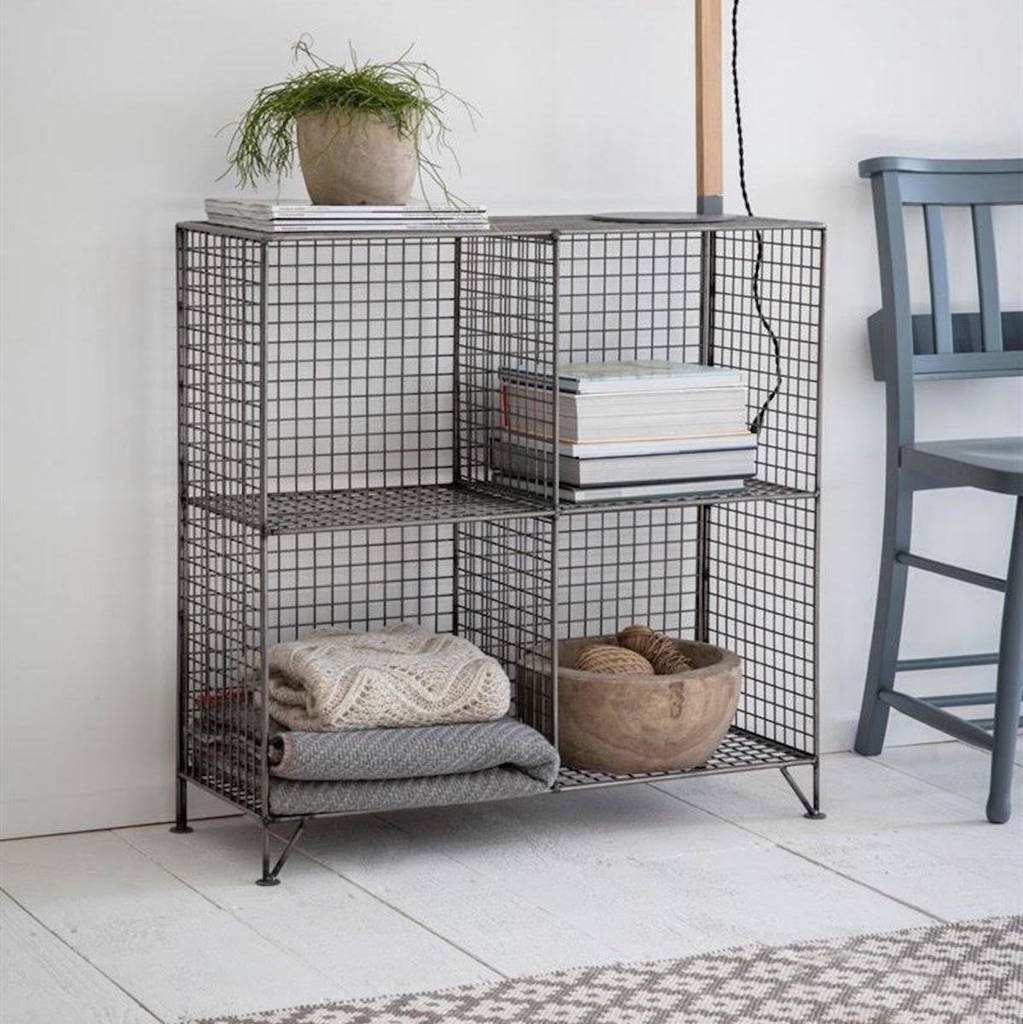 wire shelving unit by the forest & co | notonthehighstreet.com