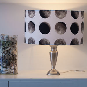 Lunar Moon Cycle Handmade Lampshade - bedroom