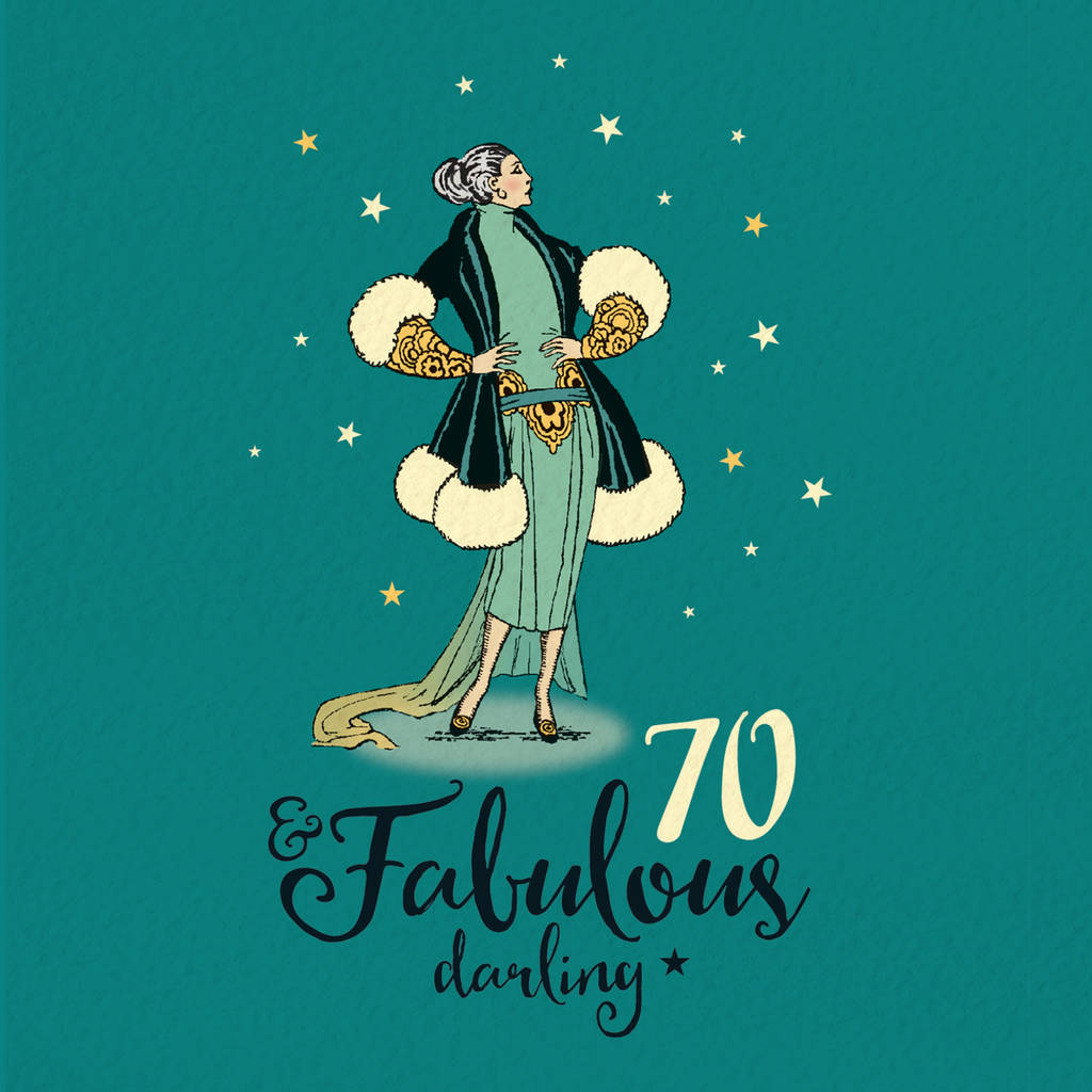 70th Birthday Card For Her Fabulous 70