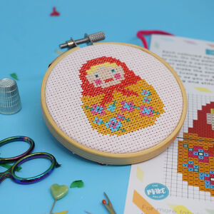 Doll Mini Cross Stitch Craft Kit