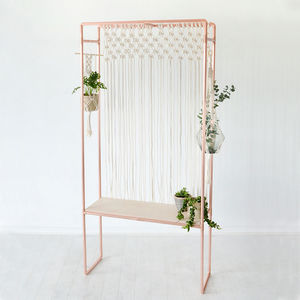 Copper And Birch Plywood Indoor Garden Plant Stand