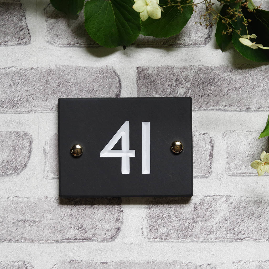 British slate classic house number three sizes house numbers doorbells