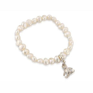 Silver Teddy Christening Bracelet - children's jewellery