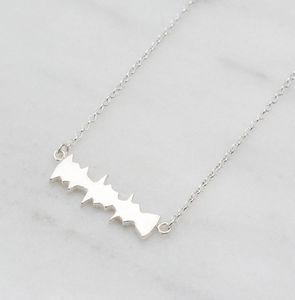 I Love You Sound Wave Sterling Silver Necklace