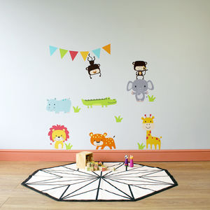 Jungle Animal Childrens Wall Stickers - children's room