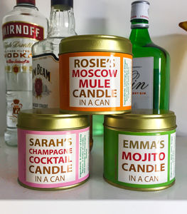 Personalised Cocktail Candle In A Can - home accessories