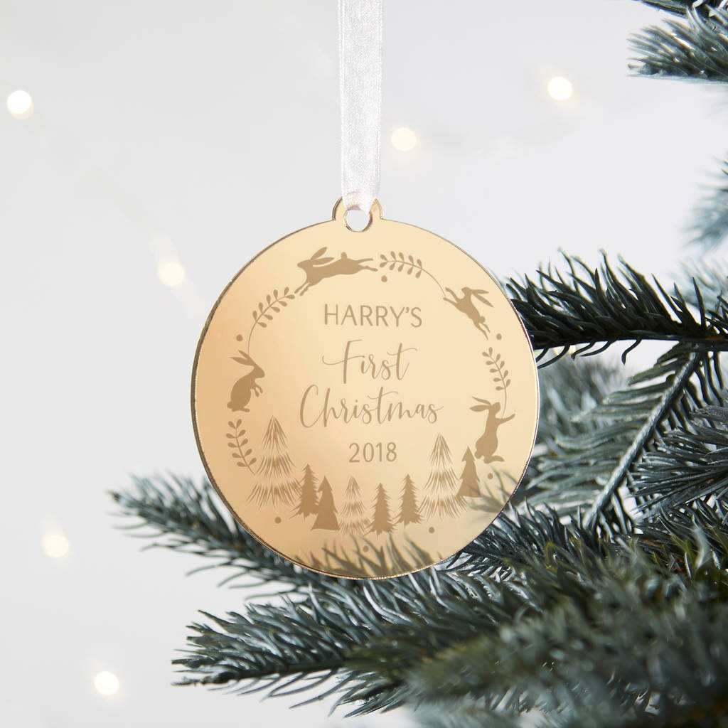 Baby's First Christmas Bauble Keepsake