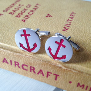 Nautical Anchor Cufflinks - cufflinks
