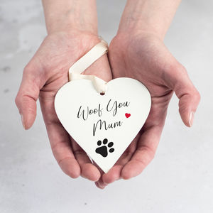 Personalised Keepsake Gift From Dog - hanging decorations