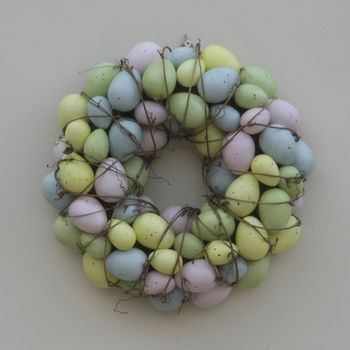 Pastel Speckled Easter Egg Wreath