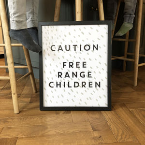 Free Range Children Print