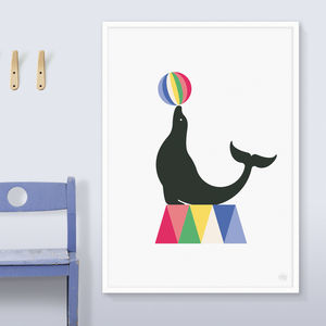 Circus Seal Print - children's room