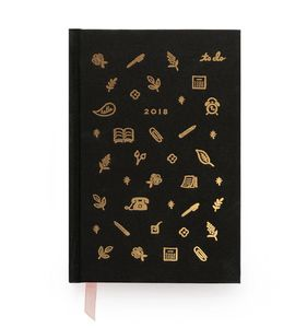 2018 Gold Foil Icon Diary Planner