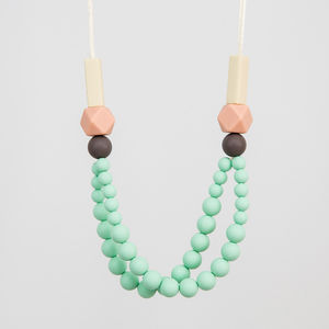 Seafoam Teething Necklace