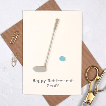 Personalised Golf Retirement Sport Card