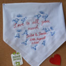 Embroidered 'Love Is…' Art Handkerchief