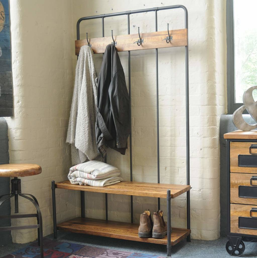 Industrial Vintage Cloakroom Bench By The Orchard