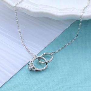 Engagement Ring Infinity Link Necklace