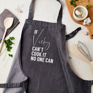 Personalised Can Cook It Denim Apron - gifts for mothers