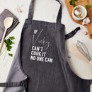 Personalised Can Cook It Denim Apron
