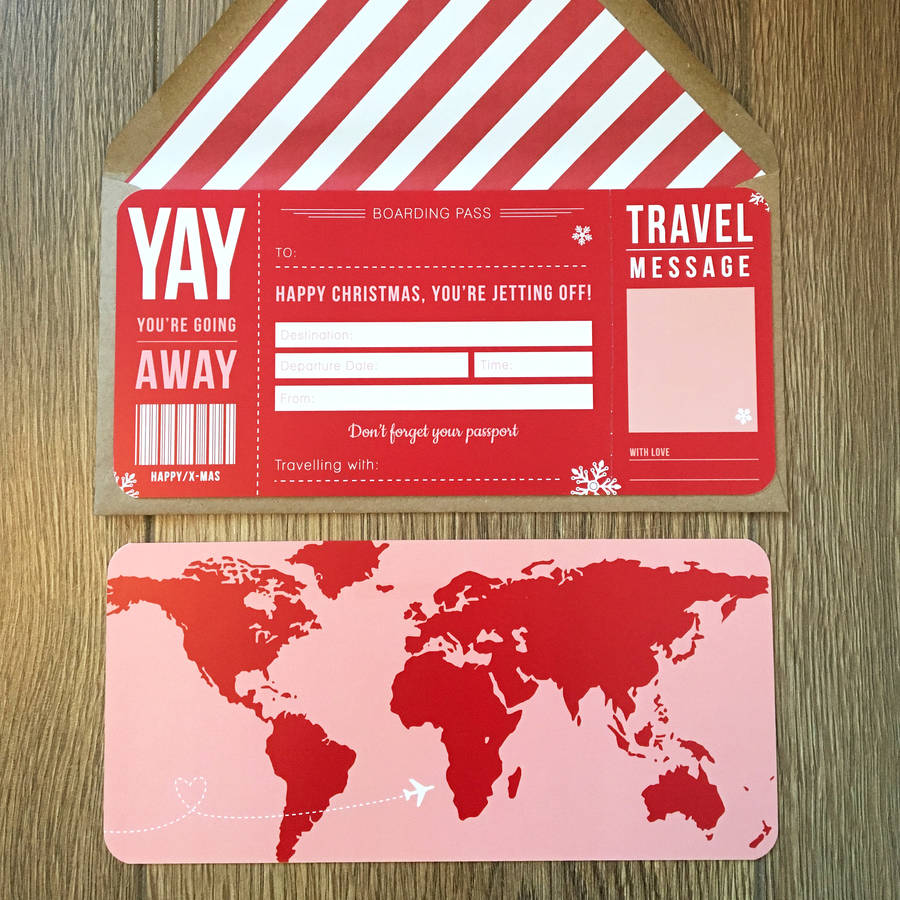 Christmas Boarding Pass By Rodo Creative Notonthehighstreet Com