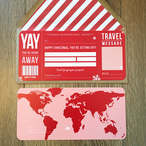Christmas Boarding Pass - personalised cards