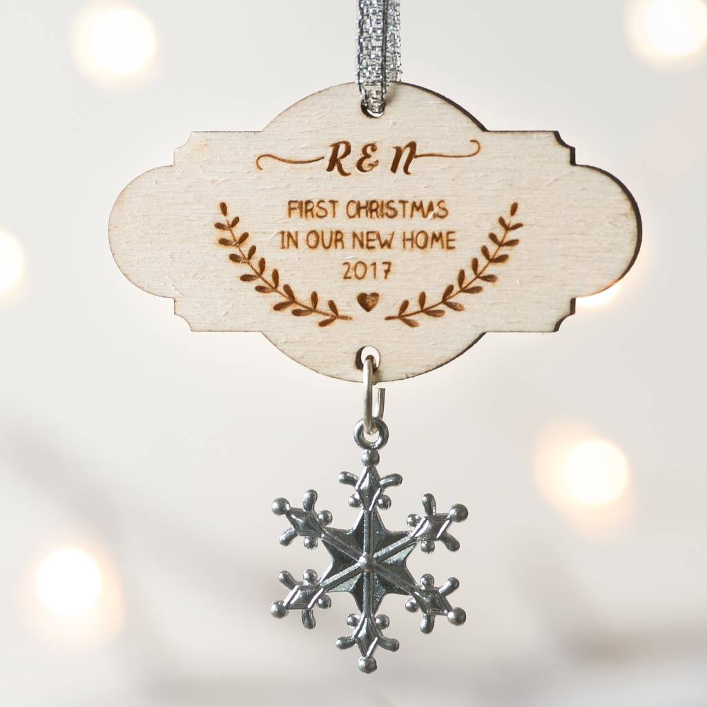 Personalised New Home Wooden Christmas Decoration