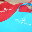 Child's Baking Queen Hand Printed Apron