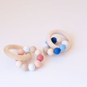 Colour Mix Teething Ring Toy