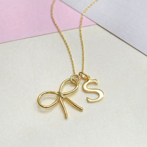 Personalised Bow Necklace