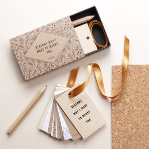 'Reasons Why I Want To Marry You' Tiny Tag Book - proposal ideas