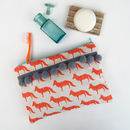 Fox Pom Pom Wash Bag