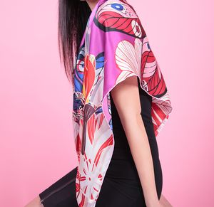 Floral Silk Scarf - summer sale