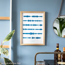 Personalised Favourite Song Soundwave in Sea Blue
