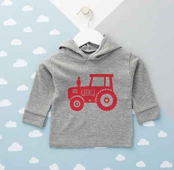 Tractor Baby Hoodie