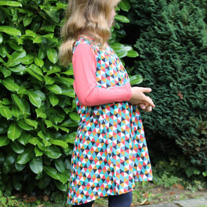 Girls Geometric Print Dress - clothing
