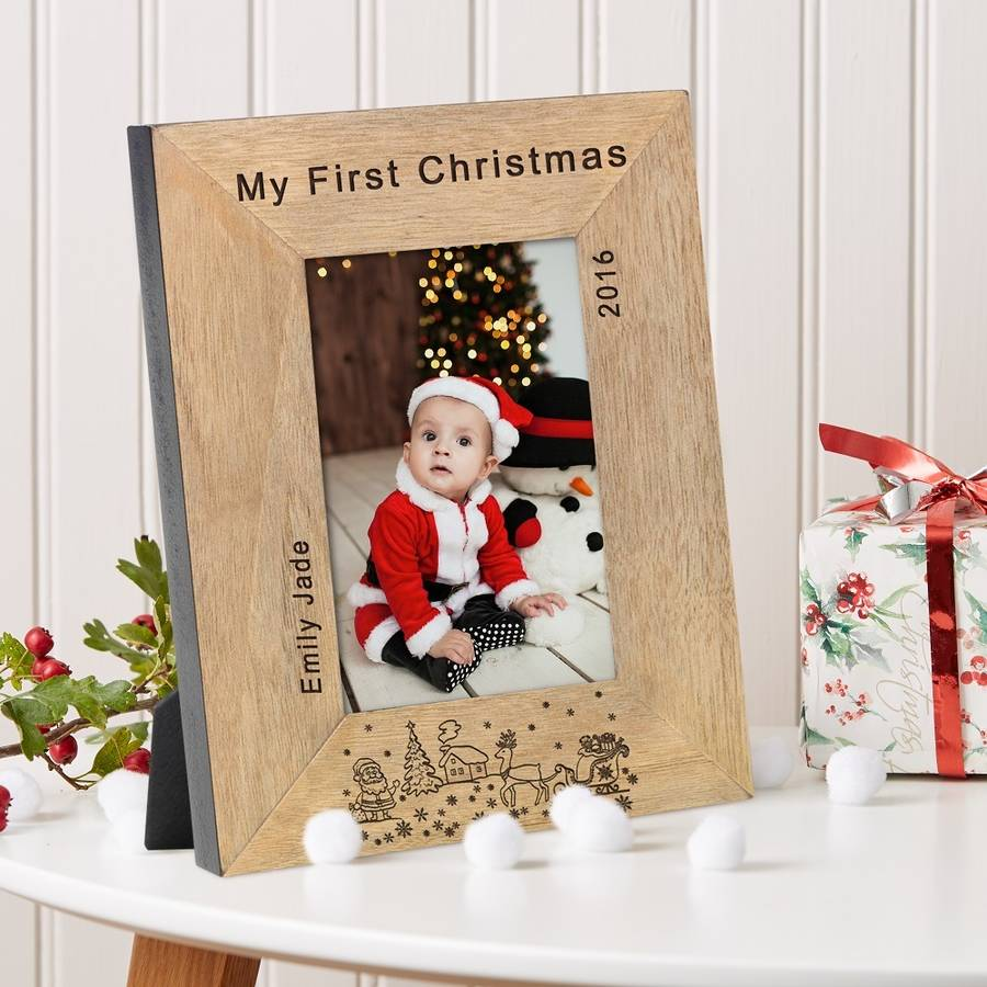 my first christmas personalised frame