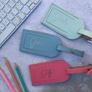 Personalised Script Luggage Tag