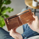 Leather Wallet With Internal Zip Pocket