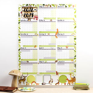 Large Woodland Academic Calendar And Year Planner 2018 - new in home